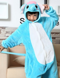 Fashion Blue Elephant Shape Decorated Chid Nightgown