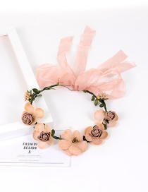 Fashion Khaki Flower&bowknot Decorated Pure Color Simple Hair Ring