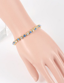 Fashion Blue Diamond Decorated Pure Color Bracelet