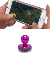 Fashion Plum Red Ball Shape Decorated Pure Color Simple Joystick