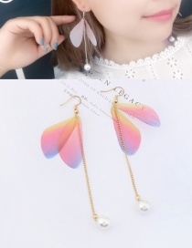 Trendy Multi-color Tassel&butterfly Decorated Long Earrings